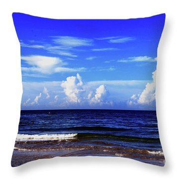 Throw Pillow featuring the photograph Beautiful Ocean View by Gary Wonning