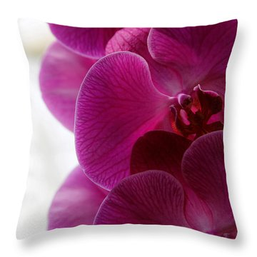 Beautiful Orchids Throw Pillow
