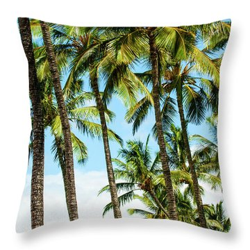 Throw Pillow featuring the photograph Beautiful Palms Of Maui 16 by Micah May