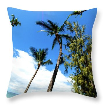 Throw Pillow featuring the photograph Beautiful Palms Of Maui 17 by Micah May
