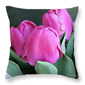 Beautiful Pink Lipstick Throw Pillow