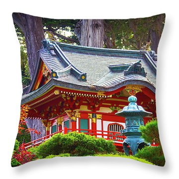 Beautiful Pogaha Golden Gate Park Throw Pillow