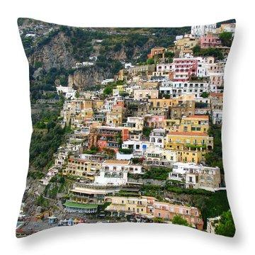 Beautiful Positano Throw Pillow