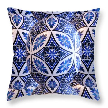 Beautiful Pysanky Throw Pillow