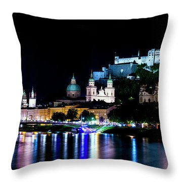 Throw Pillow featuring the photograph Beautiful Salzburg by David Morefield