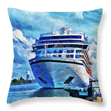 Beautiful Ship Throw Pillow