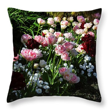 Beautiful Spring Flowers Throw Pillow by Louise Heusinkveld