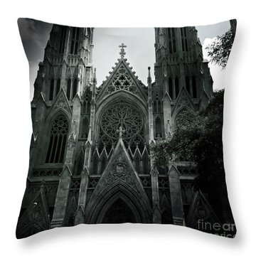 Beautiful St Patricks Cathedral Throw Pillow by Miriam Danar