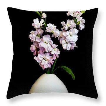 Beautiful Stock Flowers Throw Pillow