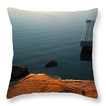 Beautiful Sunday Throw Pillow by Claire Bull