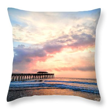 Beautiful Sunrise In Myrtle Beach South Carolina Usa Throw Pillow by Vizual Studio