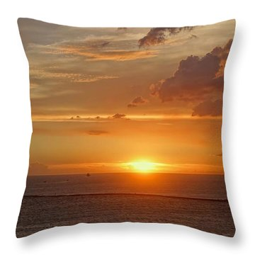 Throw Pillow featuring the photograph Beautiful Sunset At Kaohsiung Harbor by Yali Shi