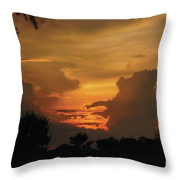 Beautiful Sunset Throw Pillow by Debra Crank