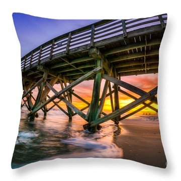 Beautiful Sunset In Myrtle Beach Throw Pillow