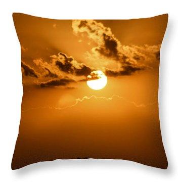 Beautiful Sunset Throw Pillow by Nance Larson