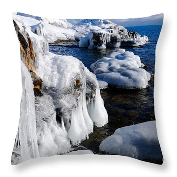 Beautiful Superior Ice Throw Pillow by Sandra Updyke