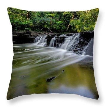 Beautiful Waterfall Throw Pillow