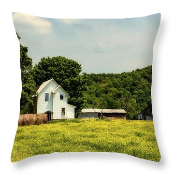 Beautiful West Virginia Throw Pillow by L O C