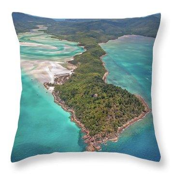 Beautiful Whitsundays Throw Pillow by Az Jackson