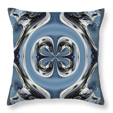 Throw Pillow featuring the digital art Beautiful Winter Inspirational Art by Sheila Mcdonald