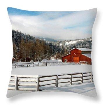 Beautiful Winter Morning Throw Pillow