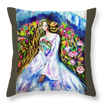 Beautiful World Throw Pillow