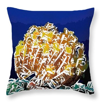 Beautiful Yellow Coral 1 Throw Pillow by Lanjee Chee