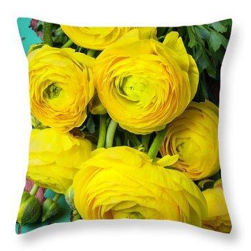 Beautiful Yellow Ranunculus Throw Pillow