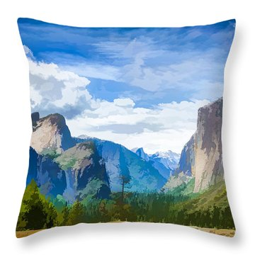Beautiful Yosemite National Park Throw Pillow by Lanjee Chee