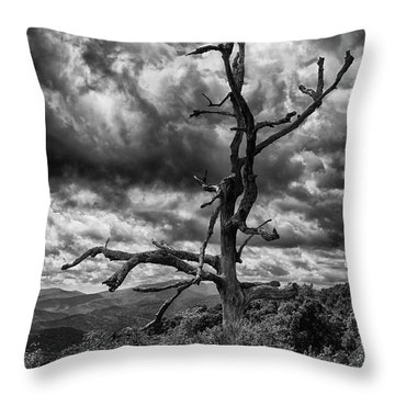 Beautifully Dead In Black And White Throw Pillow