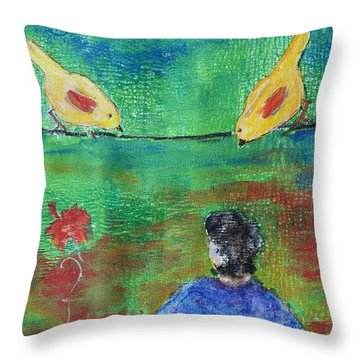 Beauty Above Throw Pillow