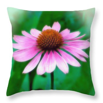 Throw Pillow featuring the photograph Beauty Among The Leaves by Sue Melvin