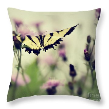 Throw Pillow featuring the photograph Beauty And Grace  by Kerri Farley