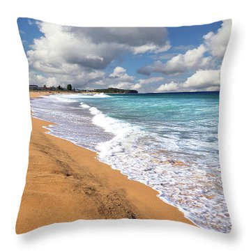 Beauty And The Beach By Kaye Menner Throw Pillow
