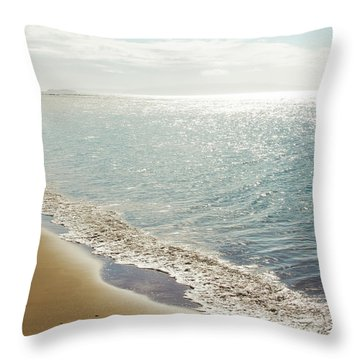 Throw Pillow featuring the photograph Beauty And The Beach by Sharon Mau