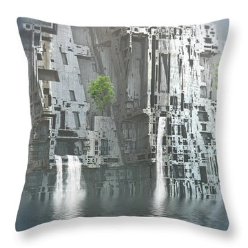 Beauty And The Beast Throw Pillow by Hal Tenny