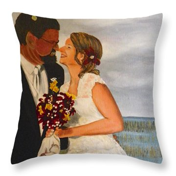 Beauty And The Beast Throw Pillow by Terry Honstead