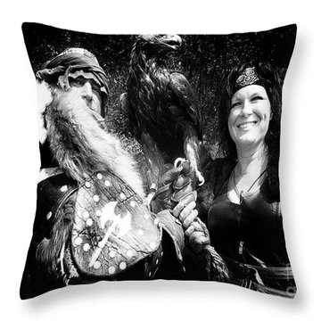 Throw Pillow featuring the photograph Beauty And The Beasts by Bob Christopher