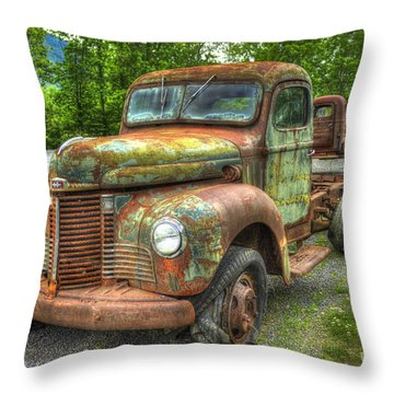 Beauty And The Best 1947 International Harvester Kb 5 Truck Throw Pillow