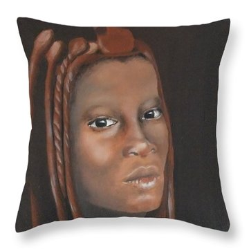 Throw Pillow featuring the painting Beauty by Annemeet Hasidi- van der Leij