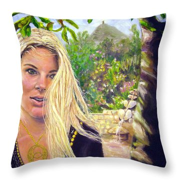 Beauty At Chalice Well Throw Pillow