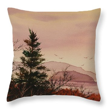 Throw Pillow featuring the painting Beauty At The Shore by James Williamson