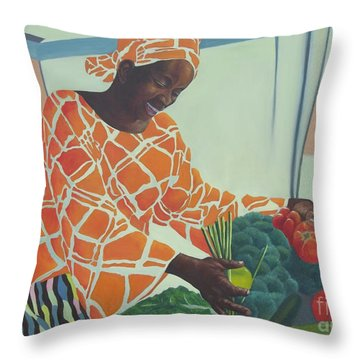 Beauty At Work Throw Pillow