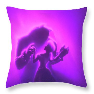 Throw Pillow featuring the mixed media Beauty Beast by David Millenheft