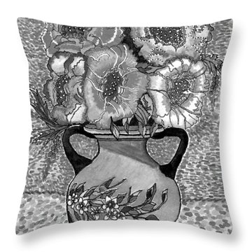 Beauty Black And White Throw Pillow