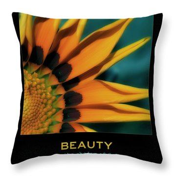 Beauty Throw Pillow by Bonnie Bruno