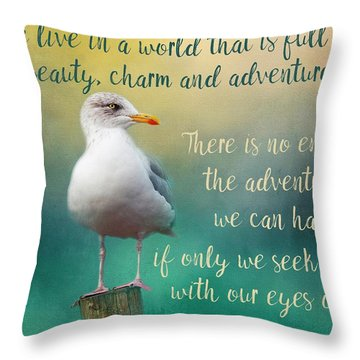 Beauty, Charm And Adventure Throw Pillow
