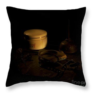 Beauty Cream Throw Pillow