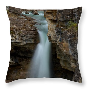 Beauty Creek Blue Waterfall Throw Pillow