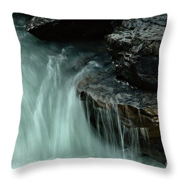 Beauty Creek Streaming Over The Edge Throw Pillow